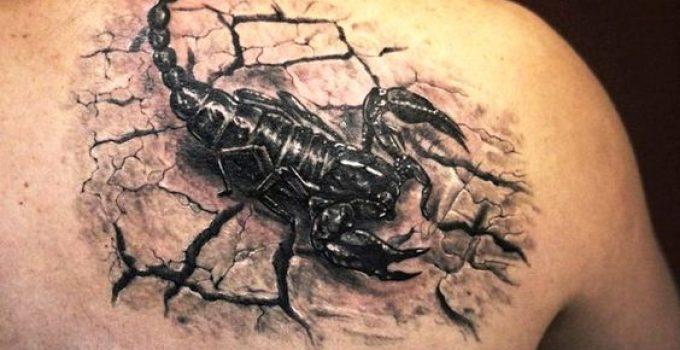 Tatouage homme scorpion