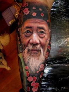 tatouage-homme-mollet-1