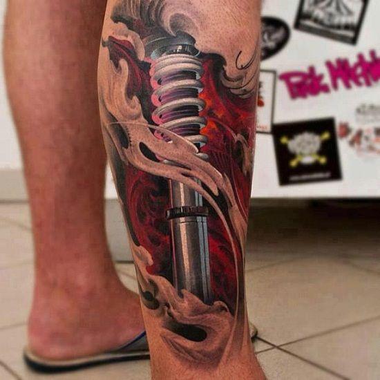 Tatouage Mollet Homme 15 Idees De Tatouages Pour Les Mollets