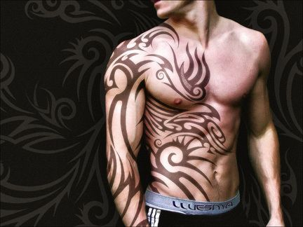 Tatouage tribal homme 15 photos de tatouage homme tribal - Tatouage tribal epaule homme ...