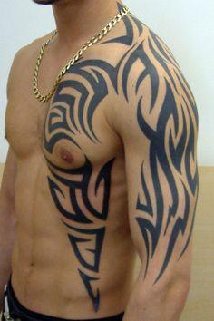 Tatouage Tribal Cou Epaule Bras Tuer Auf