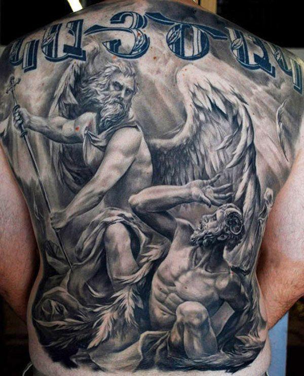 Tatouage Ange Et Demon Sur Le Bras Kolorisse Developpement