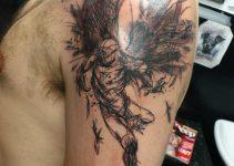 Tatouage ange homme 7